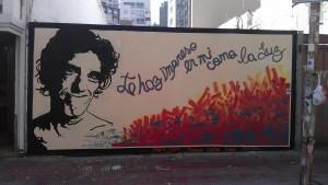 El mural de Luis ALberto Spinetta.