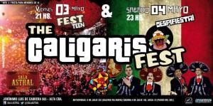 Volante de los próximos conciertos de Los Caligaris antes de viajar por México.