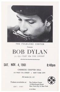 Recital de Dylan producido por Izzy Young.