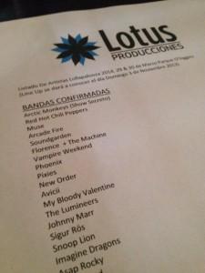 Listado de bandas de Loolapalooza Chile.