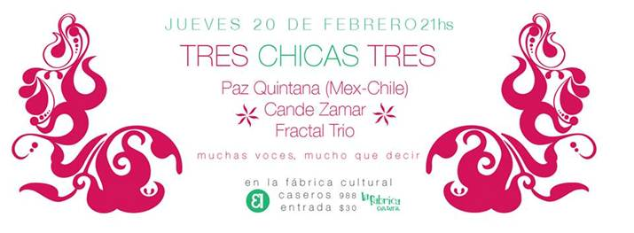 Flyer tres chicas tres