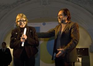 Teresa Parodi y el ex Secretario de Cultura Jorge Coscia