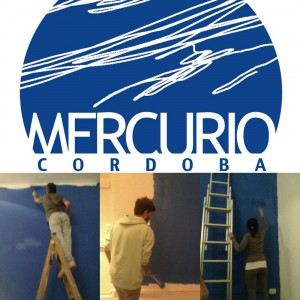 El logo de Mercurio Córdoba y la puesta a punto de la disquería.